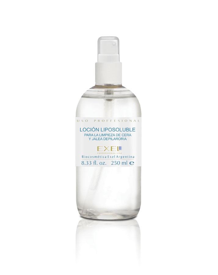 Loción liposoluble para limpieza de cera y jalea depilatoria 250 ml c/val